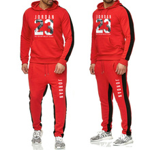 Brand New Fashion Suit JORDAN 23 spring and fall Men Sportswear Print Hoodies Pullover Hip Hop Mens tracksuit Sweatshirts
