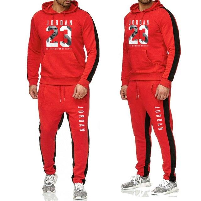 gran descuento guapo calidad estable Nuevo traje de moda JORDAN 23 primavera y otoño hombres ropa deportiva  estampado sudaderas pulóver Hip Hop chándal