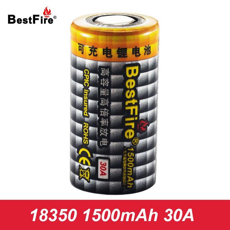 18350 Vape Rechargeable Battery 1500mAh 30A 3.7V Bestfire Li-ion Battery for E Cigarette E Pipe VS INR 18350 Battery A122