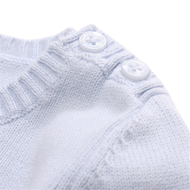 0-2 Years Baby Kid's Cotton Solid Long-sleeved Sweater New Baby Infant Pure Color Leisure Pullover Knitting Cardigan FY0032