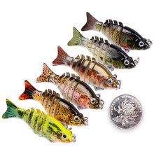 1PCS 5CM 2.5G Mini Fishing Lure Swimbait Grankbait sahte yemler Hard Baits Multi Jointed Fake Bait Tackles