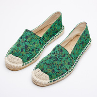 The Autumn Of 2016 The New Jacquard Folk Style Pedal Lazy Fisherman Flat Straw Rope Leisure