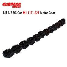 SURPASSHOBBY 3Pcs M1 5mm 11T 13T/14T 16T/17T 19T/20T 22T אברה מנוע ציוד עבור 1/8 RC באגי רכב מפלצת משאית