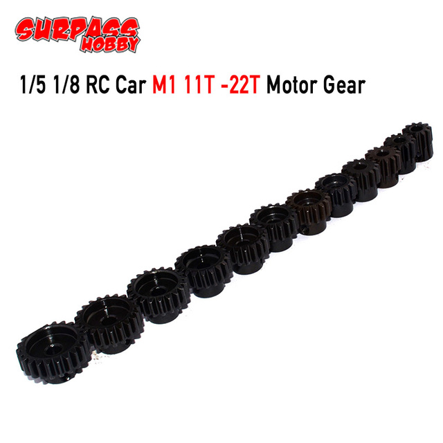 Surpashobby moteur à pignon, 3 pièces M1 5mm 11T 13T/14T 16T/17T 19T/20T 22T, engrenage pour Buggy RC 1/8, camion monstre