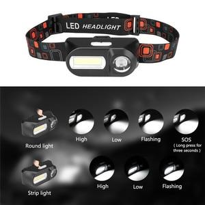 Image 5 - SANYI 3800LM LED פנס 7 מצבי פנס USB נטענת 18650 סוללה פנס מצח לקמפינג ציד זרוק חינם