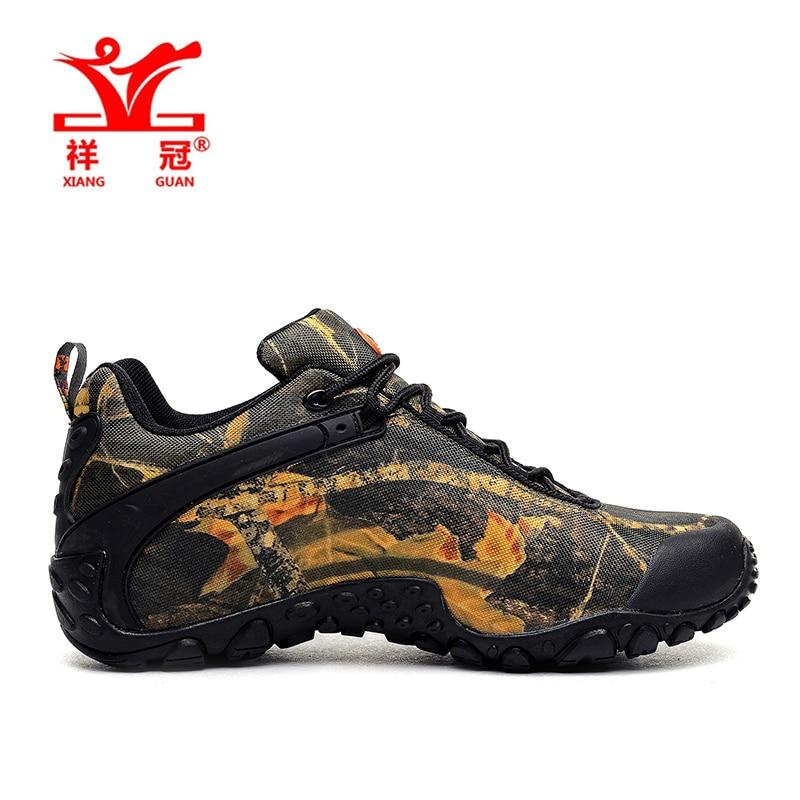 XiangGuan brand men and women outdoor Hiking shoes waterproof canvas sport trekking boots Anti-skid Wear Mountain Climbing Shoes 2016 man women s brand hiking shoes climbing outdoor waterproof river trekking shoes