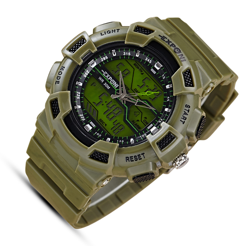 Army sport led military men relojes Automatic Waterproof Watch Men Fashion Watches Quality Clock Wristwatch green