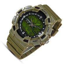 Armée sport led militaire hommes montres Automatique Montre Étanche Hommes De Mode Montres Qualité Horloge Montre-Bracelet vert plongée g-choc