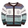 2016 Новый ребенок зимняя одежда свитер верхняя одежда мальчик девочка 100% хлопок свитер Флис lining Свитер для Мальчика Девушка Oneck свитер