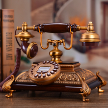 European style retro fashion high-end antique wood metal household fixed telephone landline