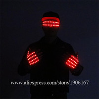 LED Glow Gloves Lighting Magic Luminous ;Led Finger Gloves Party Supplies Halloween Illuminated Glasses