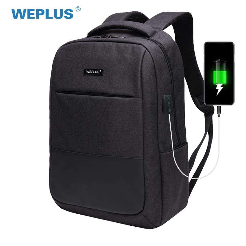 WEPLUS USB Charging Backpack Men Multifunction Laptop Shoulder Bag for Teenager Anti Thief Travel Backpack Male Female Mochila