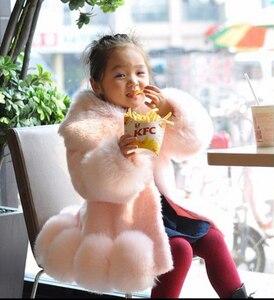 Image 2 - ใหม่ 2018 เด็กทารกแขนยาวWinter Faux FURยี่ห้อFUR Coatสำหรับหญิงอย่างเป็นทางการSoft PARTYเสื้อเด็กงานแต่งงานOutwear