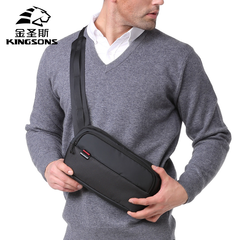 Kingsons Small Men Chest Pack Shoulder Messenger Bag Fanny Waist Bum Women Money Belt Phone Casual Travel Hand Bags