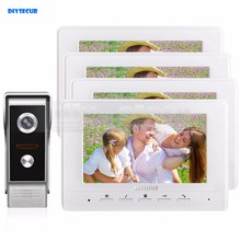 DIYSECUR 7inch Video Intercom Video Door Phone 700TV Line IR Night Vision Outdoor Camera for Home / Office Security System 1V4