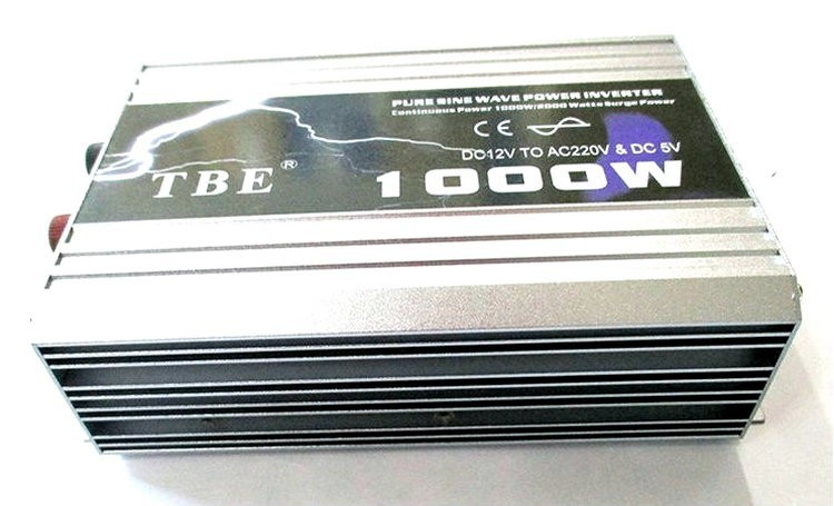Высокая мощность TBE 1000 Вт 12 В 24 в 48 в переменный ток 110 В 220 В автомобильный инвертор с чистым синусоидом с адаптером шнура питания