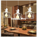 Скандинавский птичий современный подвесной светильник  декор для столовой  гостиной  подвесные светильники со стеклянным абажуром  светил...