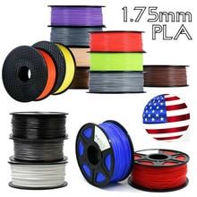 3D filament PLA/ABS 1.75 Multi-colors  1kg plastic spools impressora filamento