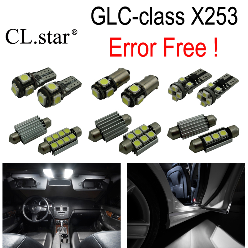 11pc X Canbus No Error LED interior dome light lamp Kit package For Mercedes Benz GLC class X253 GLC250 GLC300 GLC350 (2015+) 27pcs led interior dome lamp full kit parking city bulb for mercedes benz cls w219 c219 cls280 cls300 cls350 cls550 cls55amg