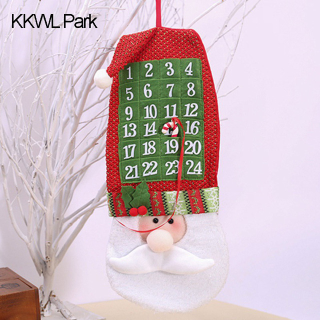 cartoon christmas calendar tree ornaments gifts banner for home decor diy three dimensional pattern calendar