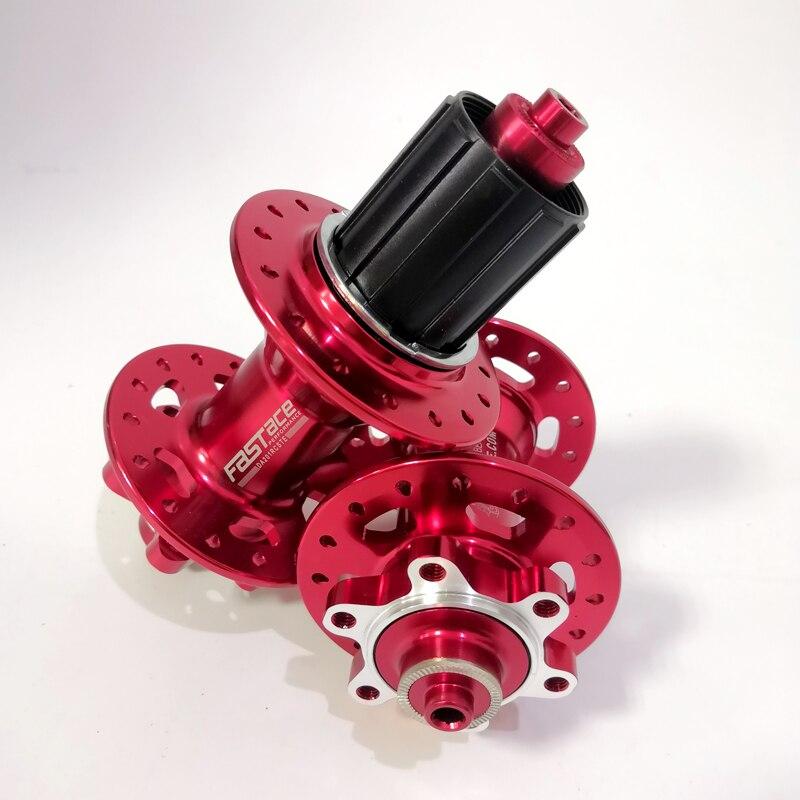 Fastace DA201 haute qualité scellé roulement frein à disque 24 28 32 trous vtt VTT moyeux rouge noir 8 9 10 11 vitesse moyeu de vélo - 2