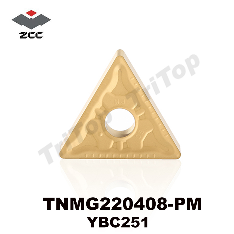 ZCC.CT TNMG INSERTS Cementuoti karbido tekinimo Įdėklai pjovimo įrankiai CNC tekinimo staklės TNMG220408 PM YBC251 TNMG432