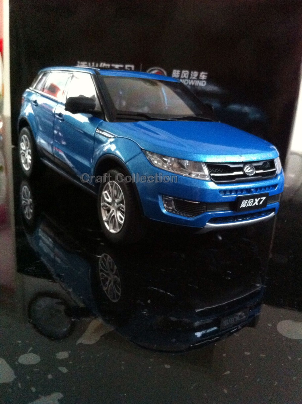 * 1/18 Car Model for JMC Land Wind X7 SUV Diecast Modell Auto Hot Selling Alloy Brinquedos Landwind Lufeng