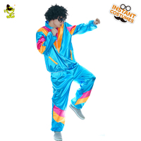 Men's Hippie Costume Halloween Party Fancy Dress Funny Carnival Party Costumes For Cheer Party Role Play Hippie Suit