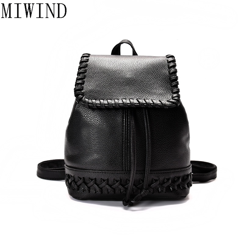Fashion Women Backpack Spanish Brand PU Leather School Bags For Teenagers Girls Top-handle Backpacks Mochila Escolar TDY515