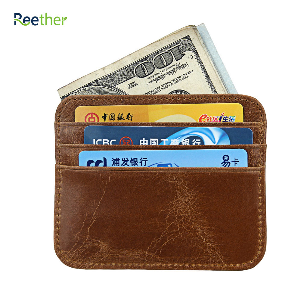 REETHER Leather 6 Card Bags Pickup Package Business Card Holders ...
