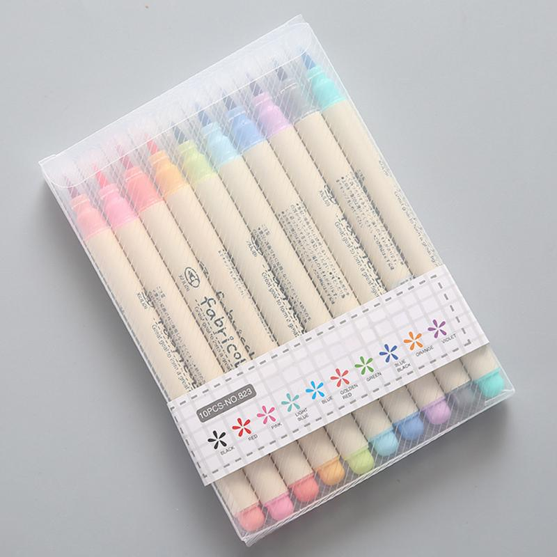 10pcs Stationery Soft Watercolor Pen Drawing Pen Set Calligraphy Drawing Art School Supplies(China)
