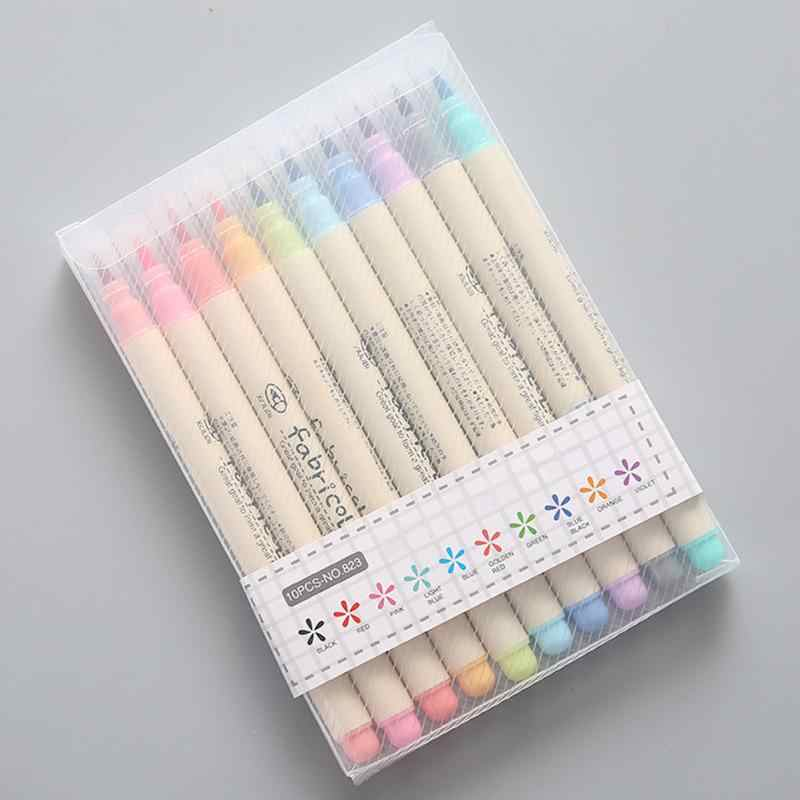 10pcs Stationery Soft Watercolor Pen Drawing Pen Set Calligraphy Drawing Art School Supplies