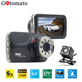 Gotomato Dual Lens Car Black Box 9 IR Light Good Night Vision G-Sensor Full HD 1080P DashCam 2 Cameras Video Recorder Car DVR