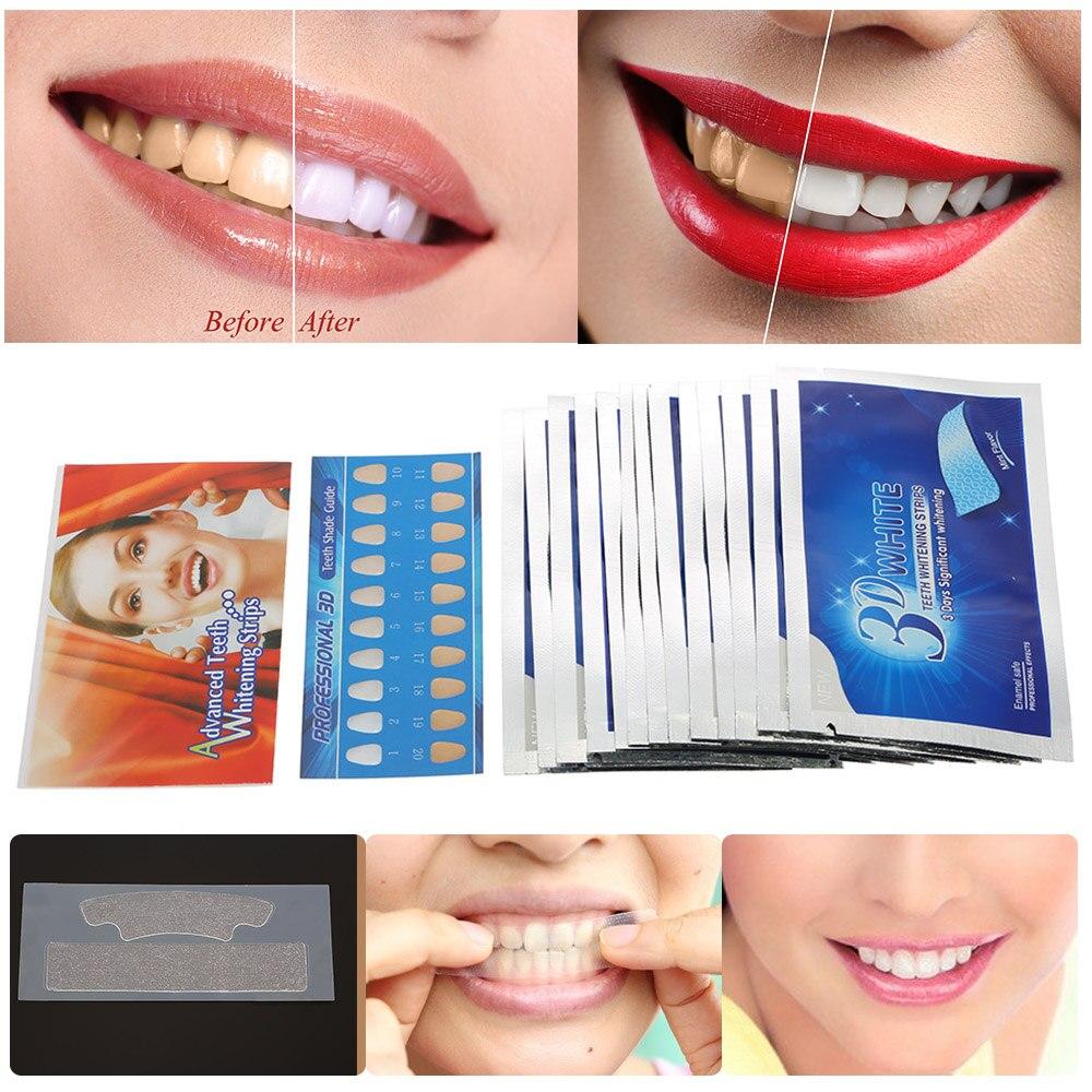 28 Pcs/14 Paar Weiß Streifen Zahn Bleaching Gel Zahnweiß-streifen Mundhygiene Zähne Bleichen Werkzeuge Gel Dental Bleichen Werkzeuge Keine Kostenlosen Kosten Zu Irgendeinem Preis