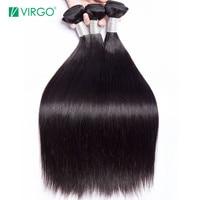 Brazilian Straight Hair Bundles Human Hair Weave Bundles 1 / 3 PCS Virgo Hair Company Natural Remy Hair Extensions Last Longer