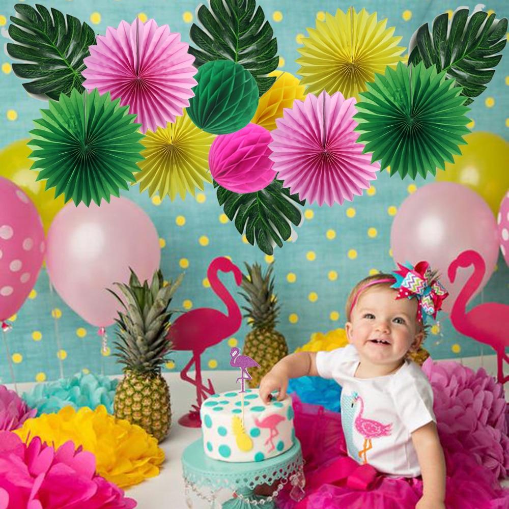 15 stks Flamingo Fiesta Thema Verjaardagsfeestje Cake Topper - Feestversiering en feestartikelen