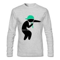 Nuova Venuta Uomini t-shirt Con Stampa Hiphop Rapper Graphic Tee Top Girocollo Manica Lunga, da Uomo
