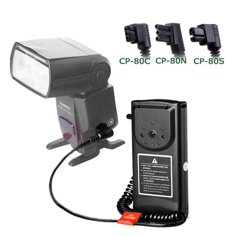 Galleria fotografica Godox CP-80 C/N/S Flash Batteria Esterna Pack Per <font><b>Canon</b></font> 580EX II 550EX 600EX/Nikon SB910 SB900 SB800/Sony HVL-F60M F58AM F56AM