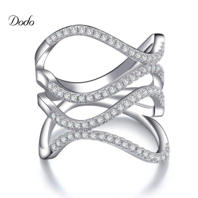 Luxury Jewelry ring Set midi rings Finger Rings cz diamond Birthday Gift for women anillos anel wedding Band Bijoux DR143