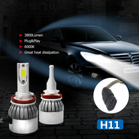 CO LIGHT 1 Pair Super Bright Led Driving Light High Low Beam H4 H11 Led Bulbs