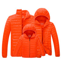 2017 Winter Casual Matching Family Clothes For Mother Father Daughter Son down jacket Thicken Solid Removable Hoody 6 Colors