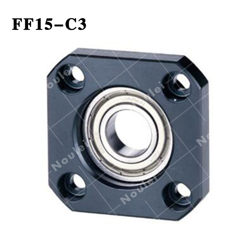 FF15 C3 end Support  Ball Screw SFU 2005 Fixed Side With Lock Nut Side for XYZ CNC parts 3pairs lot fk25 ff25 ball screw end supports fixed side fk25 and floated side ff25 for screw shaft