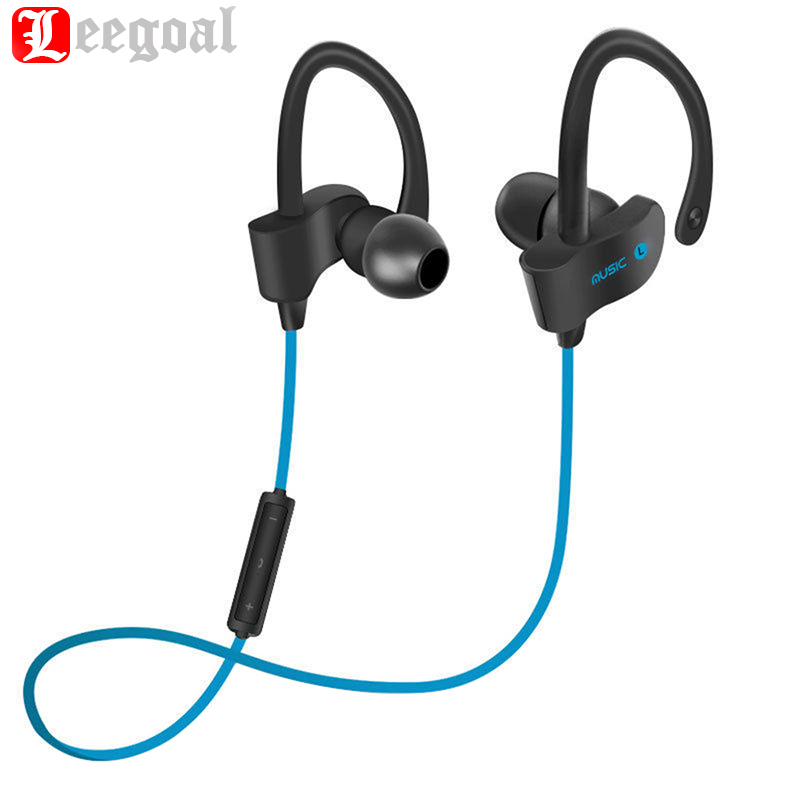 Leegoal Sports In-Ear Wireless Bluetooth Earphone Stereo Earbuds Headset Bass Earphones with Mic for iPhone 6 Samsung Phone leory l6 wireless bluetooth earphone sports heavy bass v4 0 edr earphones with mic wireless headset ear hook universal 4 colors
