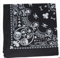 Fashion paisley  skull head scarf wrap 100% cotton bandana wristband,12pcs/lot free shipping