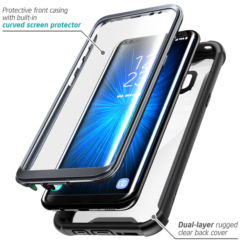 """Image 2 - Original i Blason For Samsung Galaxy S8 Case 5.8"""" Ares Series Full Body Rugged Clear Bumper Case with Built in Screen Protector-in Fitted Cases from Cellphones & Telecommunications"""