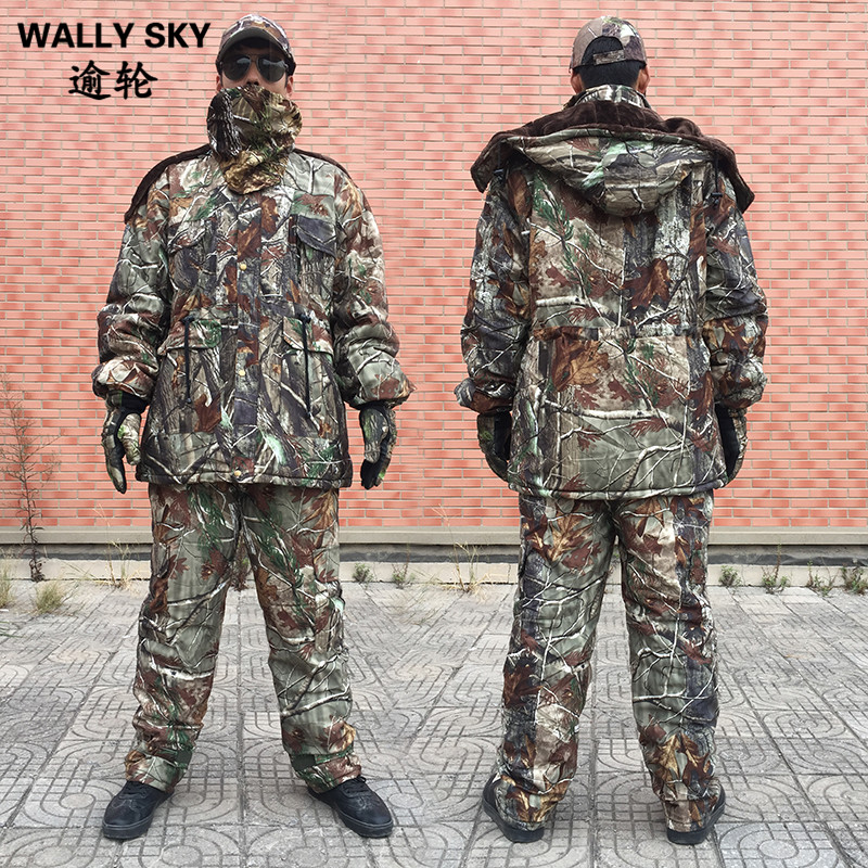 2016 Men Winter Tactical Clothing Army Waterproof Clothes 5PCS/Set Military Camouflage Outdoor Hunting Clothes new hot sniper tactical bionic camouflage vest army fans hunting thermal vests camo clothes for winter outdoor sports