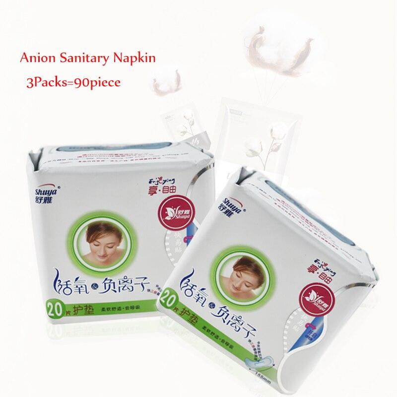 60pcs Anion Sanitary Napkin Menstrual Pads Anion Sanitary Towels Cotton Soft Feminine Hygiene Health Care Menstruation Period