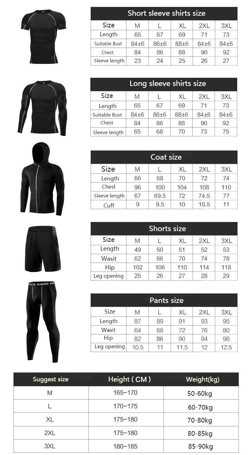 96767c43f8ca0 Conjuntos deportivos de invierno para correr para hombres con mallas ...