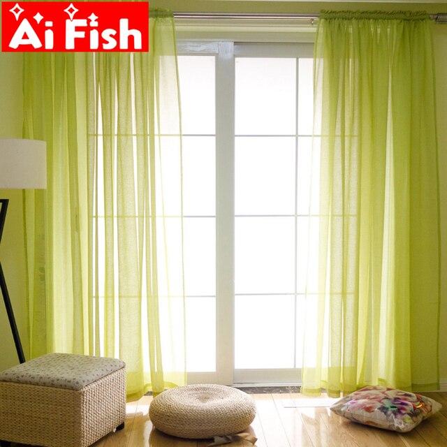 Colorato Nordic Tende di Lino Tessuto di Garza Pura Tende Per Il Salone di Modo