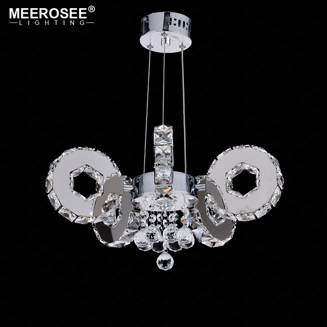 US $276 6 |Modern LED Crystal Chandelier 5 Rings Suspension Light Fixture  LED Drop Lustre for Hotel Project Home Decoration LED Luminaire-in